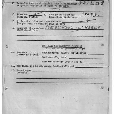 Fragebogen für Kriegsgefangene USA Camp Douglas Wyoming 02.11.1944 (3)
