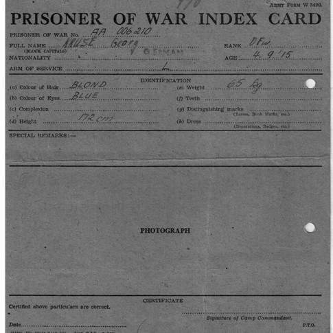 Prisoner of War Index Card (1)