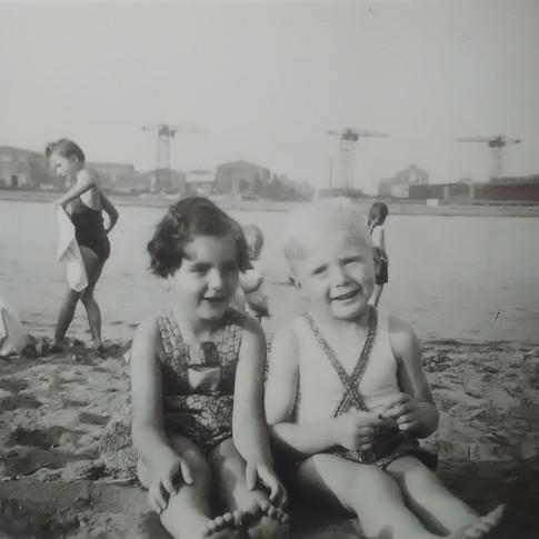 Bärbel Malz und Manfred ca. 1954 in Lankenau