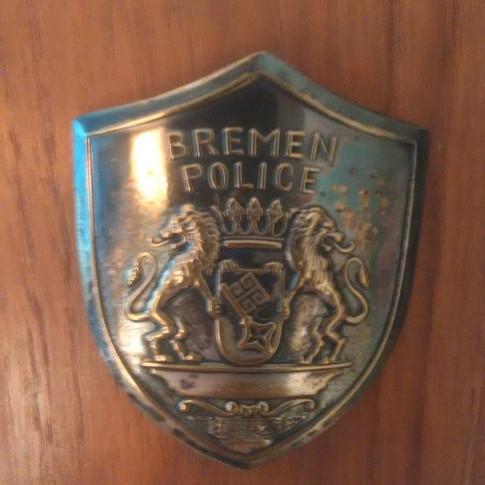 Vati bei Bremer Polizei 60er Jahre Brustabzeichen