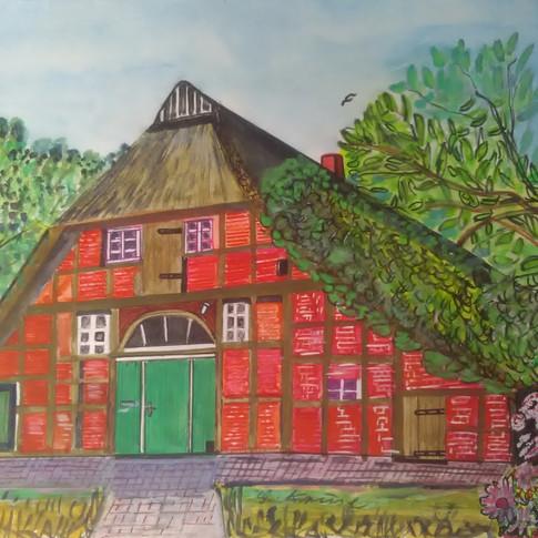Aquarell (4) gemalt von Georg Kruse (1915-1998)