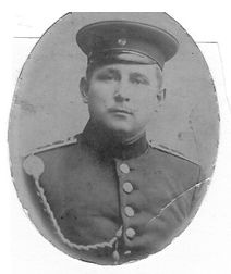 Sr. Georg Kruse als Soldat im 1. Weltkrieg. Kruse Baiersdorf