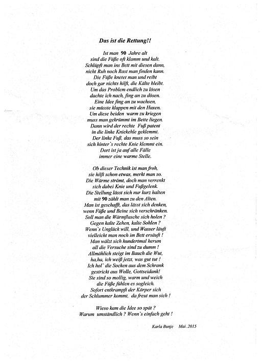 Gedicht von meiner Cousine Karla (3). Kruse Baiersdorf