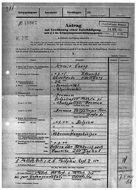 Entschädigung Kriegsgefangenschaft 1954 (1). Kruse Baiersdorf