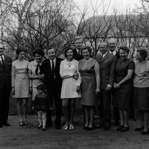 Konfirmation bei Edith und Franz von Birgitt 1970