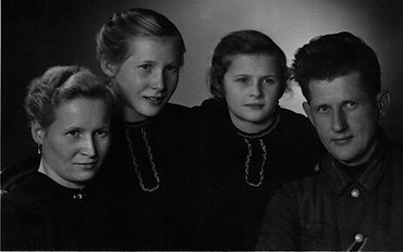 Familienfoto Max Däbler 1943. Kruse Baiersdorf