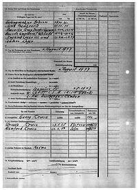 Entschädigung Kriegsgefangenschaft 1954 (2). Kruse Baiersdorf