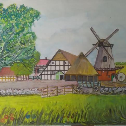 Aquarell (5) gemalt von Georg Kruse (1915-1998)