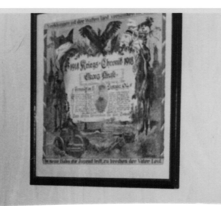 Kriegsurkunde 1914-1918 von Opa Georg Kruse