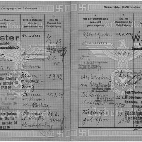 Mutti Arbeitsbuch Arbeitgeber 1939 bis 1946