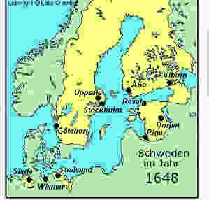 Landkarte Schweden 1648