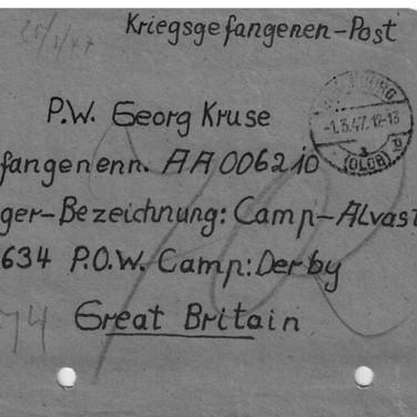 England Kriegsgefangenen-Post 01.03.1947