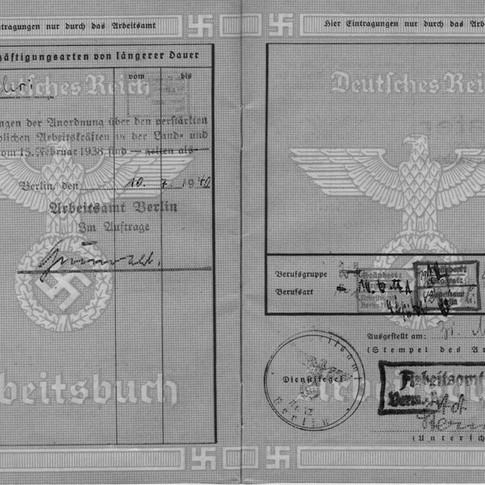 Mutti Arbeitsbuch Pflichtjahr in Hauswirtschaft 1940