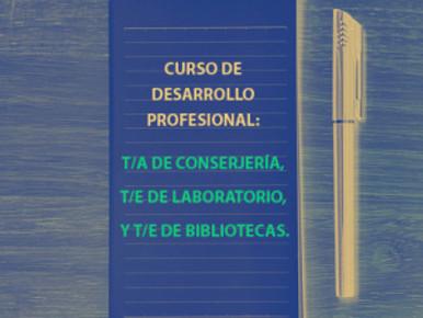 CURSO DE DESARROLLO PROFESIONAL: T/A DE CONSERJERÍA, T/E DE LABORATORIO, Y T/E DE BIBLIOTECAS.