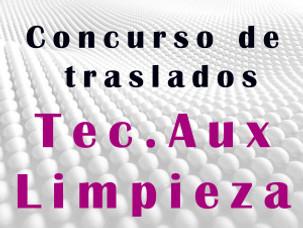 CONCURSO DE TRASLADOS  TEC. AUX . LIMPIEZA
