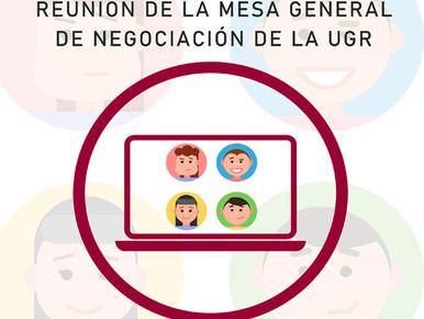 INFORMACIÓN DE LA REUNIÓN DE LA MESA GENERAL DE NEGOCIACIÓN DE LA UGR APROBADO ACUERDO DE INDE...