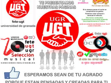 UGT UGR  ¡Entra y conoce nuestras páginas en facebook!