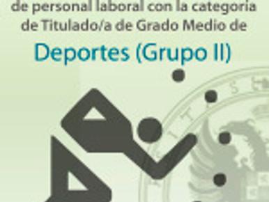 oposición libre para cubrir 2 plazas Titulado/a de Grado Medio de Deportes (Grupo II)