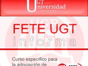 FETE-UGT INFORMA: Curso específico para la adquisición de Grado Personal