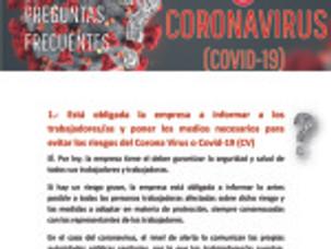 🔴UGT|UGR INFORMA:  «FAQ»  LISTA DE PREGUNTAS Y RESPUESTAS SOBRE EL COVID-19.