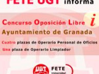 FETE – UGT – UGR, te recuerda que está abierto el plazo para la  presentación de solicit