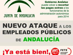 NUEVO ATAQUE A LOS EMPLEADOS PÚBLICOS DE ANDALUCÍA.