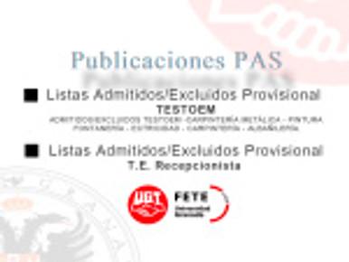 Publicaciones (Servicio Personal Laboral UGR)