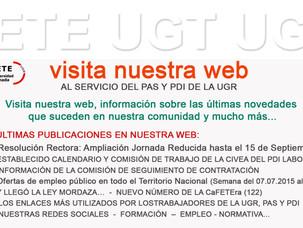 CONSULTA LAS ÚLTIMAS NOVEDADES EN LA WEB DE FETE-UGT UGR