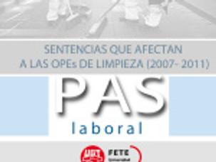 SENTENCIAS QUE AFECTAN A LAS OPEs DE LIMPIEZA (2007- 2011)