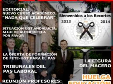 La CaFETEra, número (59) Boletín Semanal de la Sección  Sindical FETE UGT de la Universidad de Grana