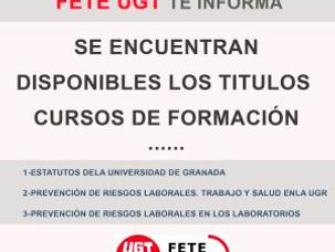TITULOS CURSOS DE FORMACIÓN