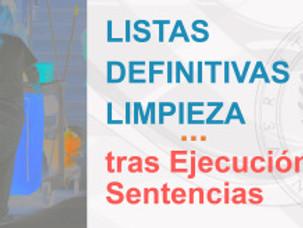 LISTAS DEFINITIVAS LIMPIEZA tras Ejecución Sentencias