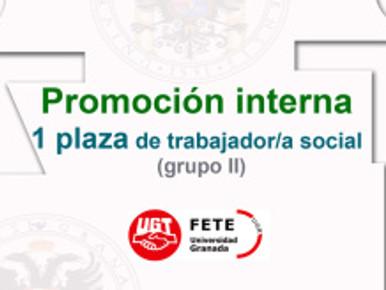 Promoción interna 1 plaza de trabajador/a social (grupo II)