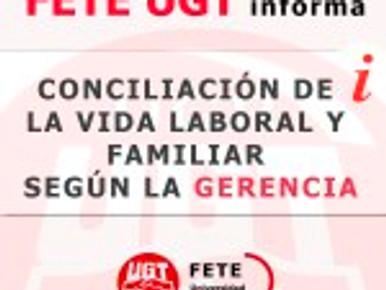CONCILIACIÓN DE LA VIDA LABORAL Y FAMILIAR SEGÚN LA GERENCIA