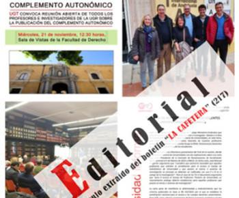 """🔴 EDITORIAL. Artículo extraído del boletín """"LA CAFETERA"""" (217)"""