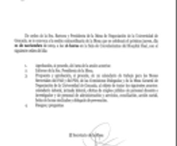🔴UGT|UGR INFORMA: REUNIÓN MESA GENERAL DE LA UNIVERSIDAD DE GRANADA
