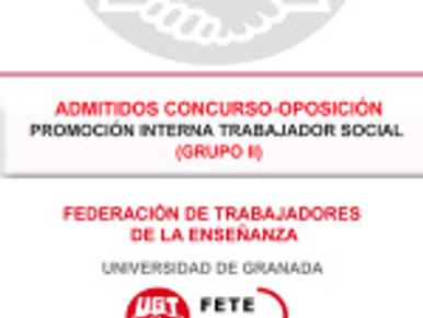 ADMITIDOS CONCURSO-OPOSICIÓN PROMOCIÓN INTERNA TRABAJADOR SOCIAL (GRUPO II)