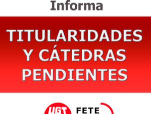 TITULARIDADES Y CÁTEDRAS PENDIENTES