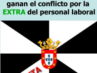 UGT y CCOO,  ganan en CEUTA  el conflicto por la  EXTRA del personal laboral