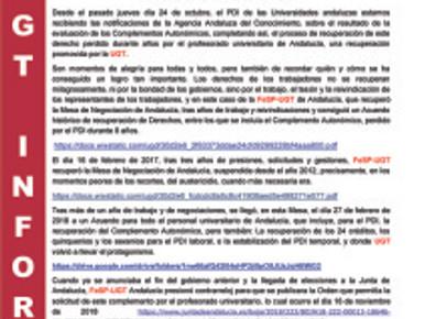 🔴 UGT | INFORMA: LLEGAN LAS EVALUACIONES DEL COMPLEMENTO AUTONÓMICO  SE CONFIRMA EL TRABAJO Y ÉXITO