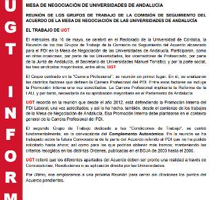 MESA DE NEGOCIACIÓN DE UNIVERSIDADES DE ANDALUCÍA
