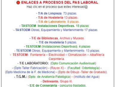 🔴 CONSULTA LOS DISTINTOS PROCESOS SELECTIVOS EN VIGOR DEL PAS DE LA UGR.