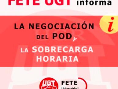 NEGOCIACIÓN DEL POD Y SOBRECARGA HORARIA