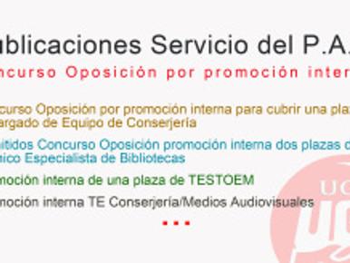 PUBLICACIONES EN EL SERVICIO DEL P.A.S. Promoción interna…