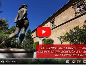 🔴 VIDEO SOBRE EL RECORTE DE LA JUNTA DE ANDALUCÍA A LA UGR. ES UNA AGRESIÓN A LA ECONOMÍA DE LA PRO