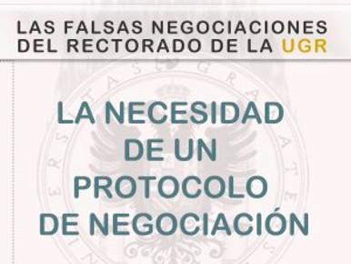 LAS FALSAS NEGOCIACIONES DEL RECTORADO