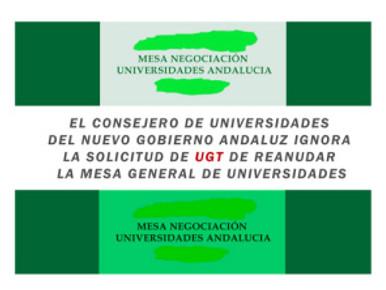 🔴 𝗨𝗚𝗧 | 𝗜𝗡𝗙𝗢𝗥𝗠𝗔: EL CONSEJERO DE UNIVERSIDADES DEL NUEVO GOBIERNO ANDALUZ IGNORA LA SOLIC