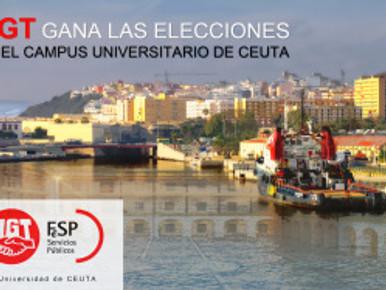 UGT GANA LAS ELECCIONES EN EL CAMPUS UNIVERSITARIO DE CEUTA