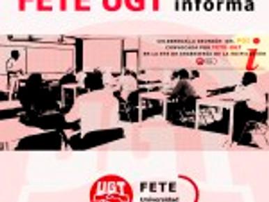 CELEBRADA LA REUNIÓN  DEL PDI CONVOCADA POR FETE-UGT EN LA ETS DE INGENIERÍA DE LA EDIFICACIÓN
