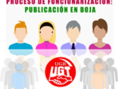 PROCESO DE FUNCIONARIZACIÓN: PUBLICACIÓN EN BOJA